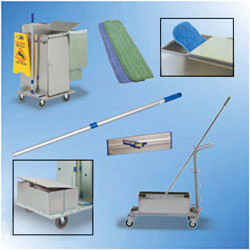 Microfiber Janitorial Carts and Microfiber Accessories