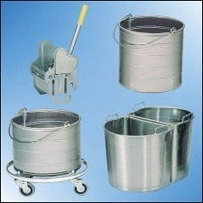 Stainless Steel Mop Buckets and Wringers