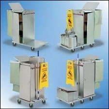 Roycerolls Net Stainless Steel Cleaning Equipment Carts